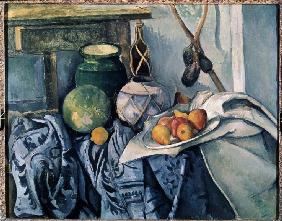 Still Life with a flagon and aubergines