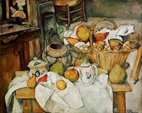 Still life with fruit basket.