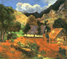 Landscape with three persons
