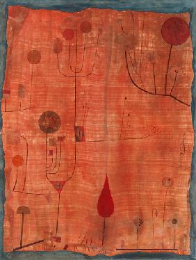 Fruits on red (or: The handkerchief of the violinist)