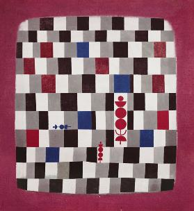 Super Chess, 1937 (no 141) (oil on burlap)