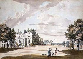 The South Front of Strawberry Hill (w/c, pen &
