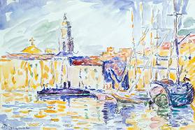 The Harbour at St. Tropez, c.1905 (w/c on paper)