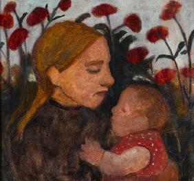 Girl with child