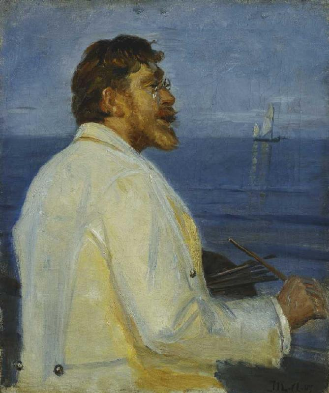 Ritratto del pittore Peder Severin Krøyer - Michael Peter Ancher