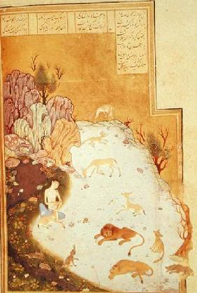 Or 2590 Majnun in the Desert, from the story of 'Layla and Majnun' by Nizami