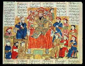 A Sultan and his Court, illustration from the 'Shahnama' (Book of Kings)