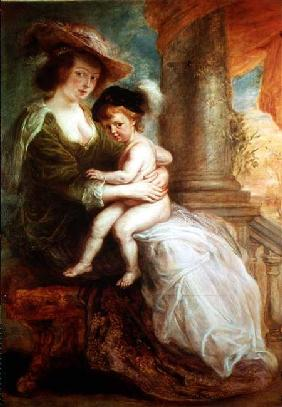 Helene Fourment (1614-73) and her son Frans