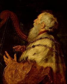 King David, the harp playing.