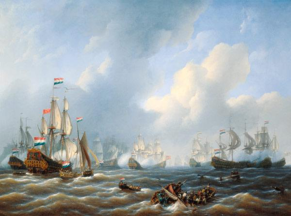 The Battle of Camperdown on 11th October 1797