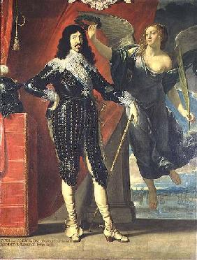 Louis XIII (1601-43) Crowned by Victory