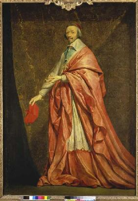 Portrait of the cardinal Richelieu.