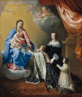 The Virgin Mary gives the Crown and Sceptre to Louis XIV