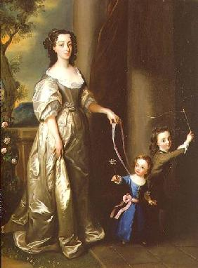 Portrait of Mrs Thomas Fane with her children John and Anne