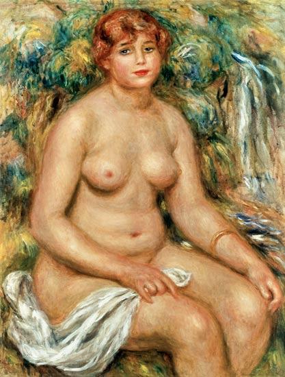 Bagno seduto - quadro di Pierre-Auguste Renoir