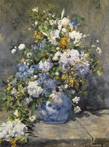 Grande vaso con fiori quadro di pierre auguste renoir for Vasi di fiori dipinti