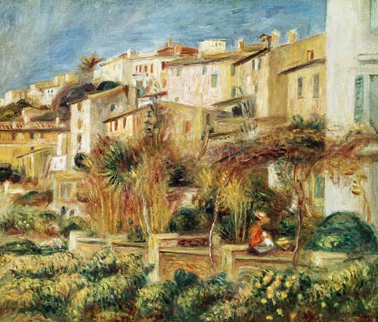 Terrazze a Cagnes - dipinto di Pierre-Auguste Renoir