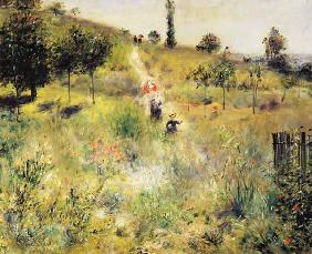 Rising way in the high grass 1875
