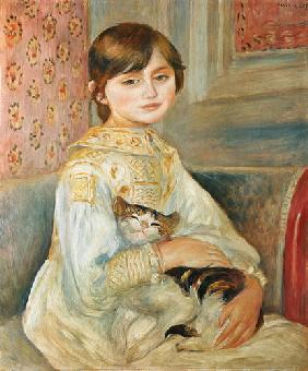 Mademoiselle Julie Manet with cat