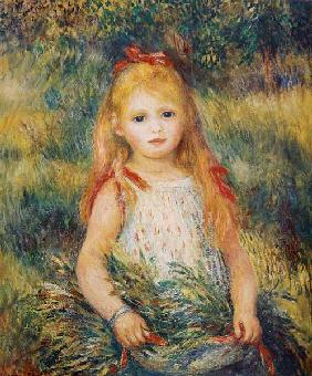 Little Girl Carrying Flowers, or The Little Gleaner