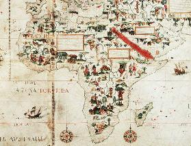 Add 24065: Detail of a map of the world showing Africa