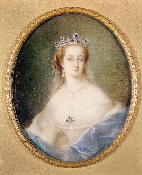 Portrait miniature of the Empress Eugenie (1826-1920)