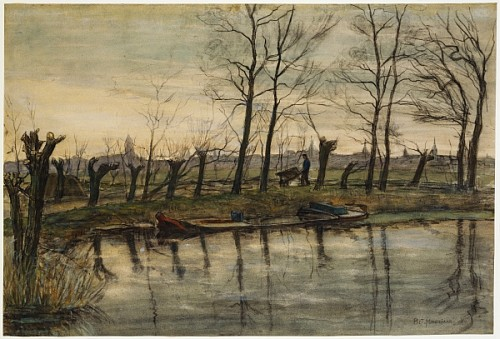 farmer returning to the fields piet mondrian. Black Bedroom Furniture Sets. Home Design Ideas