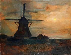 Oostzijdse Mill in Moonlight