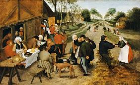 Peasants At A Roadside Inn