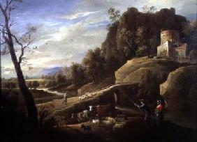 Landscape with Farmers tending their Animals