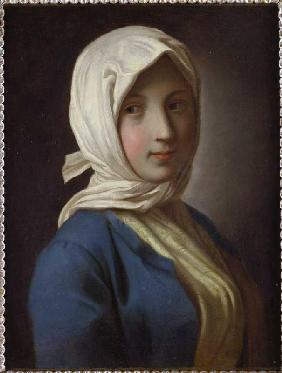 Portrait of a girl with Kopftuch