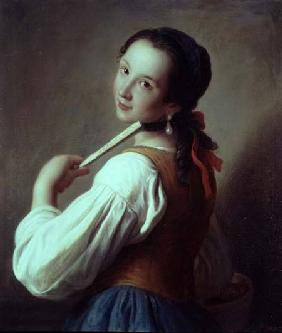 Young Girl wearing a pearl earring
