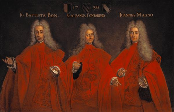 Portrait of three lawyers, Giovanbattista Bon, Galeano Contarini and Giovanni Magno