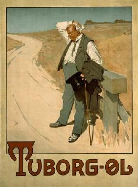Advertising placard for Tuborg beer, 1900 of Erich Henningsen 1900