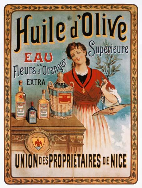 Poster advertising olive o...