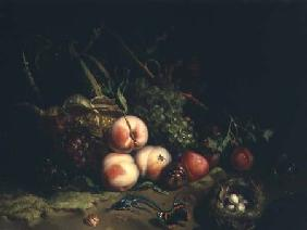 Still life with fruit (panel)