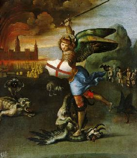 St. Michael, one half of a diptych