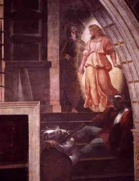 St Peter Escapes with the Angel, from 'The Liberation of Saint Peter' in the Stanza d'Eliodoro