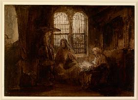 Christ Conversing with Martha and Mary