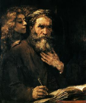 Evangelist Mathäus and the angel