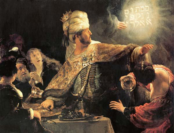 The feast of the Belshazzar