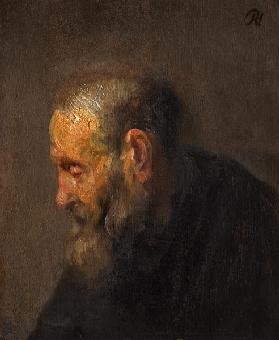 Study of an Old Man in Profile