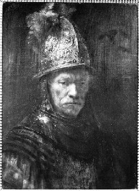 Portrait of a Man with a Golden Helmet