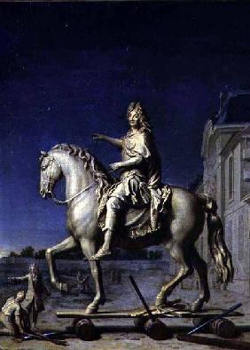 Transporting the Equestrian Statue of Louis XIV to the Place Vendome in 1699