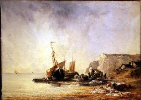 Boats by the Normandy Shore