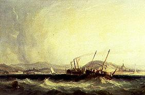 First crossing of the Channel by the steamship Fulton