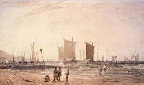 French Coast, with fishing Boats