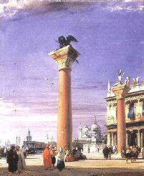 The Columns of San Marco in Venice