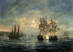 "Engagement Between the ""Bonhomme Richard"" and the ""Serapis"" off Flamborough Head, 1779"