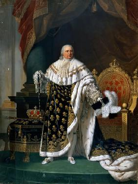 Portrait of Louis XVIII (1755-1824) in coronation robes